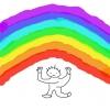 虹の下の私[でんでん虫の詩とエッセーとイラスト]