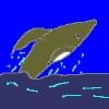 夜の大海へジャンプするクジラ[でんでん虫の詩とエッセーとイラスト]