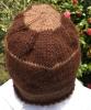 アルパカ100パーセント 焦げ茶色に茶色のボーダー の帽子[紹介したい手仕事商品]
