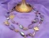 チェコグラスのロングネックレス[Amalmoon Essence Jewelry]